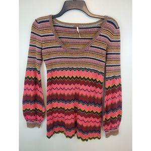 Free People Wool Stripe Sweater Small
